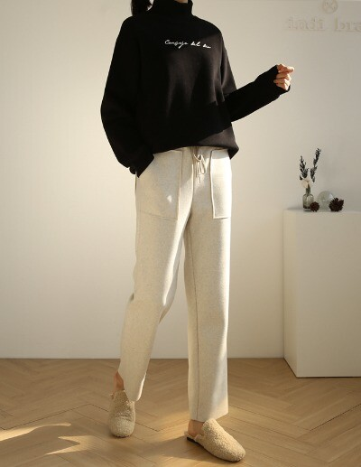 wool napping pants
