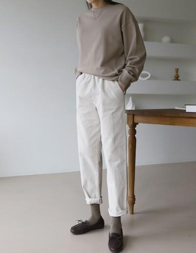 banding corduroy pants